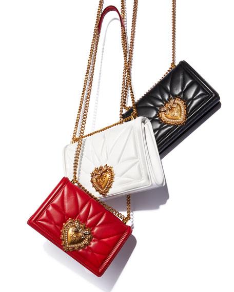 Dolce & Gabbana Devotion Large Quilted Shoulder Bag