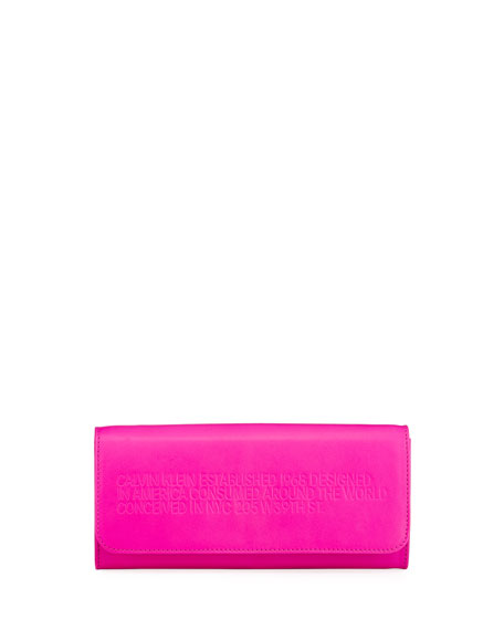 CALVIN KLEIN 205W39NYC Smooth Neon Leather Wallet on