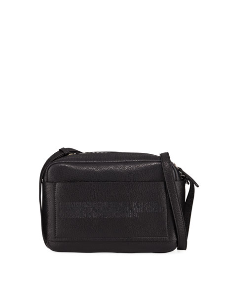 CALVIN KLEIN 205W39NYC Belle Pebbled Leather Camera Bag