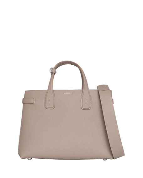 Burberry Banner Medium Derby Leather Tote Bag