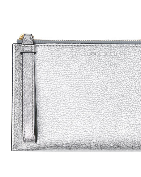 Burberry Nolan Metallic Leather Wallet