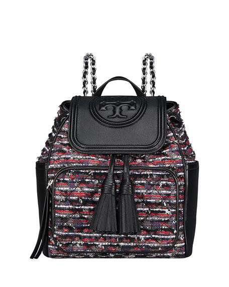 Tory Burch Fleming Tweed Backpack Bag