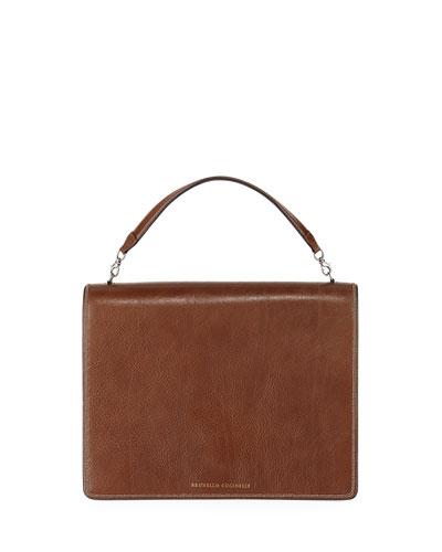 Leather Top-Handle Crossbody Bag