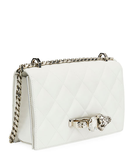 Alexander McQueen Jeweled Knuckle Flap Shoulder Bag