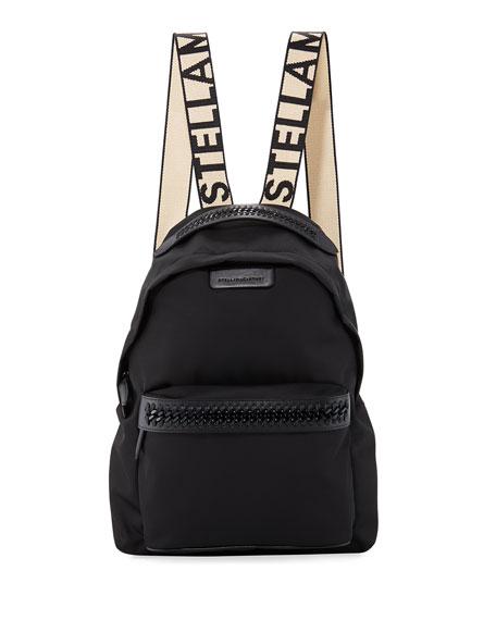 Stella McCartney Logo-Web Nylon Backpack