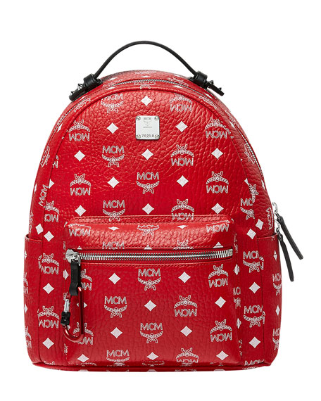 MCM Stark Logo Canvas Backpack