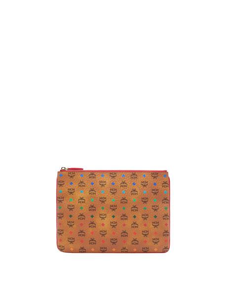 MCM Spektrum Visetos Mini Pouch Clutch Bag