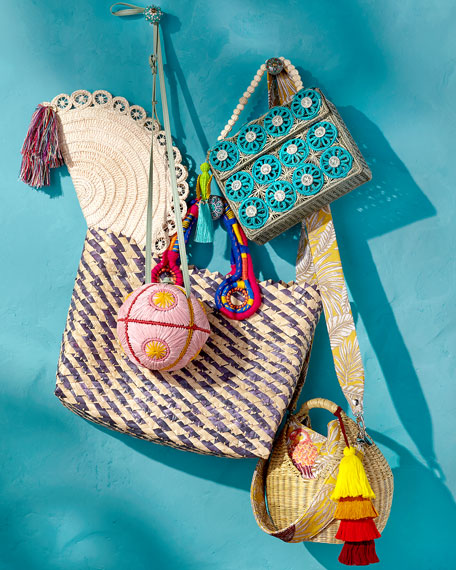 Mercedes Salazar Threaded Straw Top Handle Bag