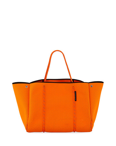 Escape Perforated Neoprene Tote Bag  Bright Orange