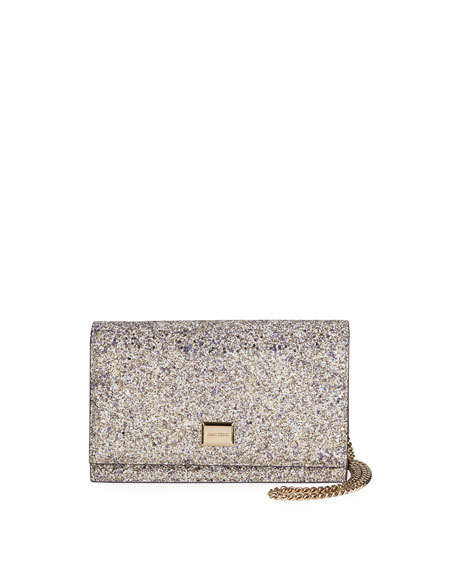 Jimmy Choo Lizzie Textured Glitter Shoulder Bag