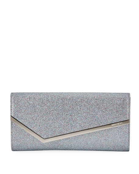 Jimmy Choo Erica Fine-Glittered Clutch Bag