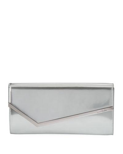 Erica Metallic Patent Clutch Bag