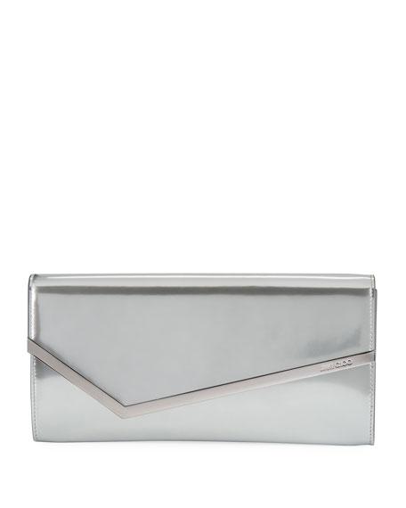 Jimmy Choo Erica Metallic Patent Clutch Bag
