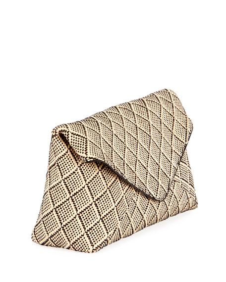 Dries Van Noten Patterned Envelope Clutch Bag