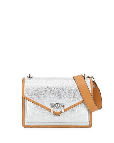 Jean Medium Metallic Leather Shoulder Bag