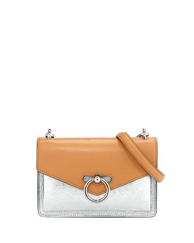 Jean Colorblock Metallic Leather Crossbody Bag