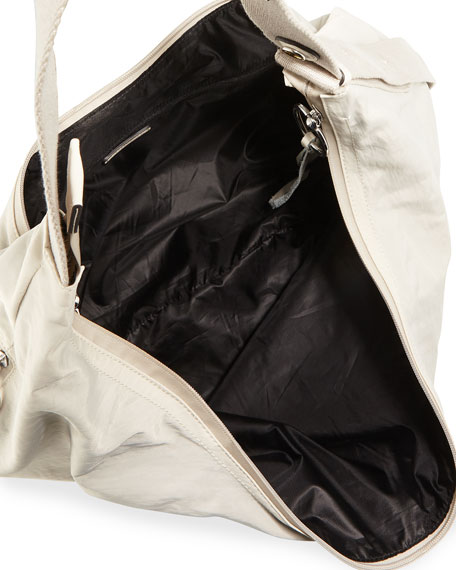 Rebecca Minkoff Distressed Nylon Hobo Bag