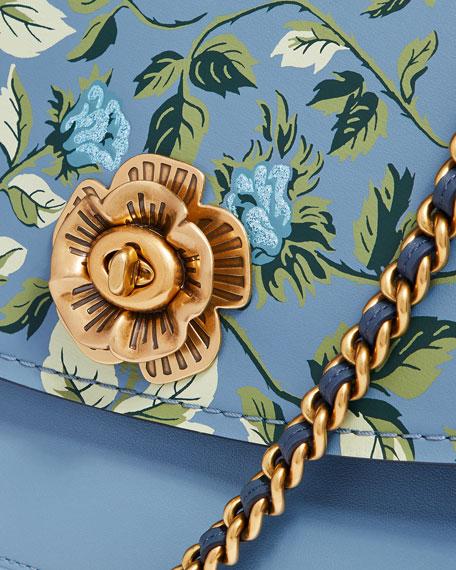 d8768059 Parker Floral-Print Leather Shoulder Bag