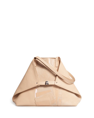 Ai Medium Collage Soft Shoulder Bag