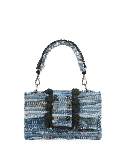 New Yorker Soho Woven Front-Flap Top Handle Bag
