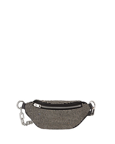 Attica Rhinestone Multi-Pocket Belt Bag