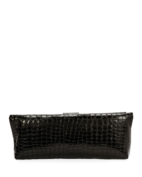 TOM FORD Embossed Croc East-West Clutch Bag