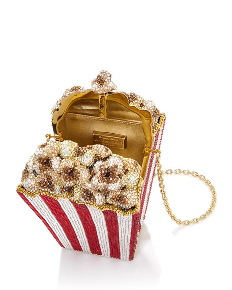 Judith Leiber Couture Popcorn Matinee Minaudiere Clutch Bag
