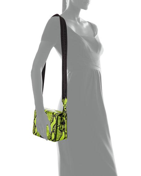 Off-White Snake-Embossed Fluorescent Shoulder Bag