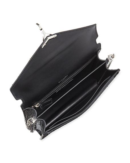 Saint Laurent Cassandra Medium Monogram YSL Python V-Flap Crossbody Bag