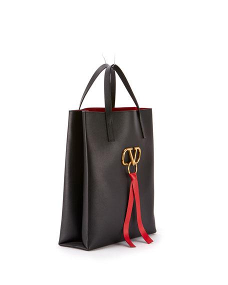 Valentino Garavani VRING Leather Tote Bag