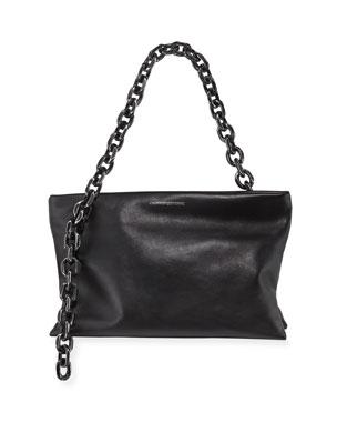 47f296e24b CALVIN KLEIN 205W39NYC Scull Soft Chain Clutch Bag