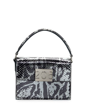 bbd43a4769 CALVIN KLEIN 205W39NYC Bonnie Small Python Top-Handle Crossbody Bag