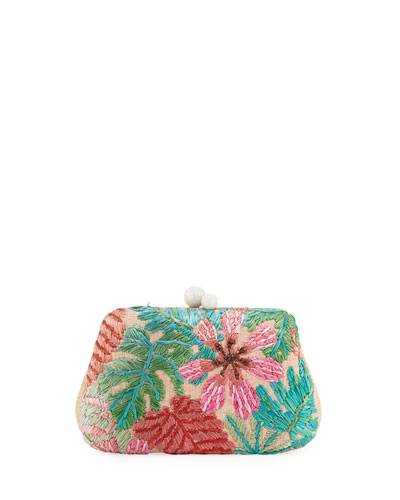 Rosie Botanical Embroidered Clutch Bag