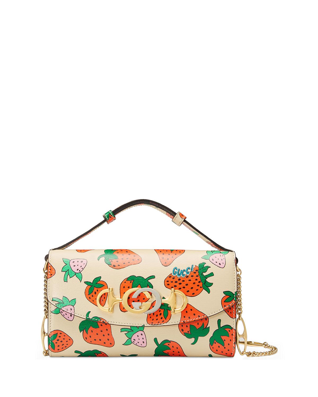 361c90374294 Gucci Gucci Zumi Strawberry Shoulder Bag | Neiman Marcus