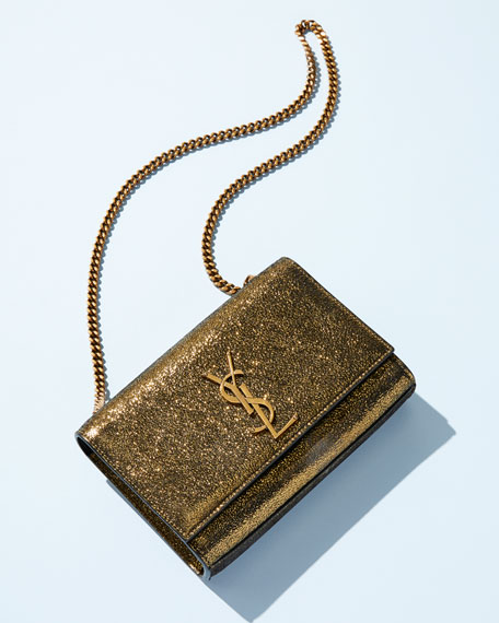 Saint Laurent Kate Monogram Ysl Small Metallic Leather