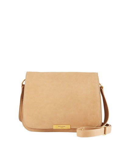 Amalia Medium Leather Full Flap Crossbody Bag