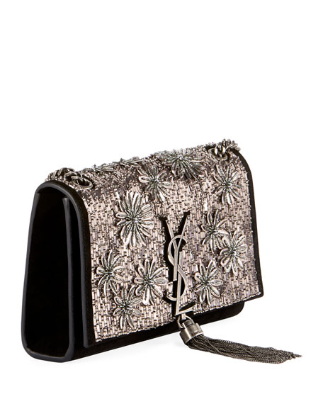 Saint Laurent Kate Small Ysl Monogram Tassel Crossbody Bag