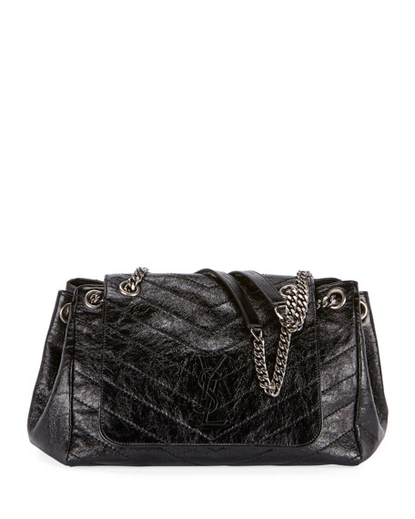 Saint Laurent Nolita Medium Monogram YSL Double Chain Shoulder Bag