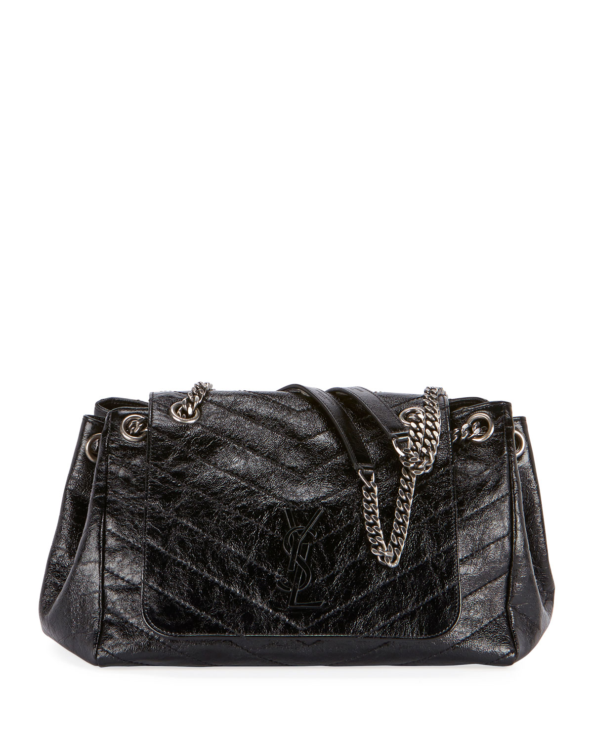 8284c5c4714 Saint Laurent Nolita Medium Monogram YSL Double Chain Shoulder Bag ...