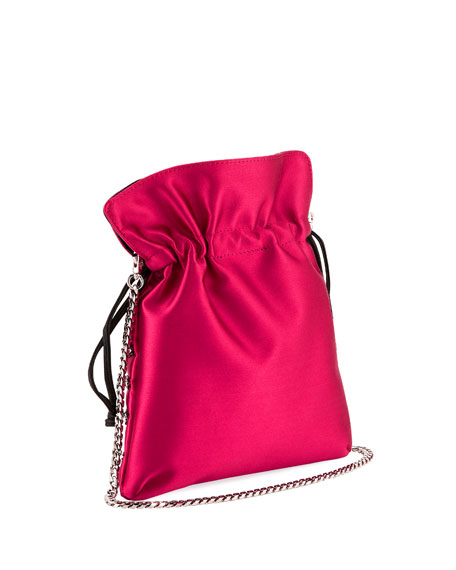 Les Petits Joueurs Trilly Heart Cupid Satin Pouch Bag