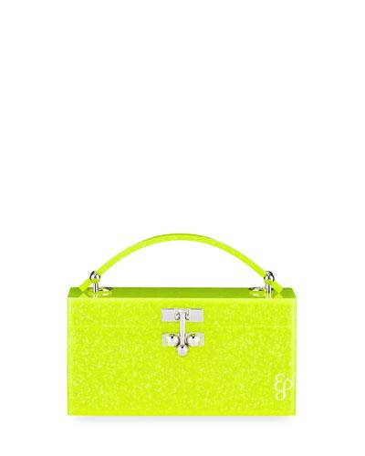 Mini Trunk Acrylic Top-Handle Bag