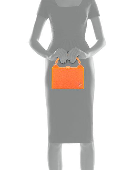 Edie Parker Housewife Solid Acrylic Top Handle Bag