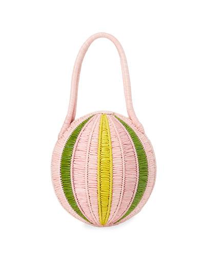 Melo Woven Raffia Large Handbag
