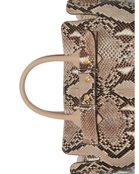 Burberry Marais Small Python Belted Satchel Bag