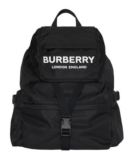 Burberry Wilfin Nylon Logo Backpack