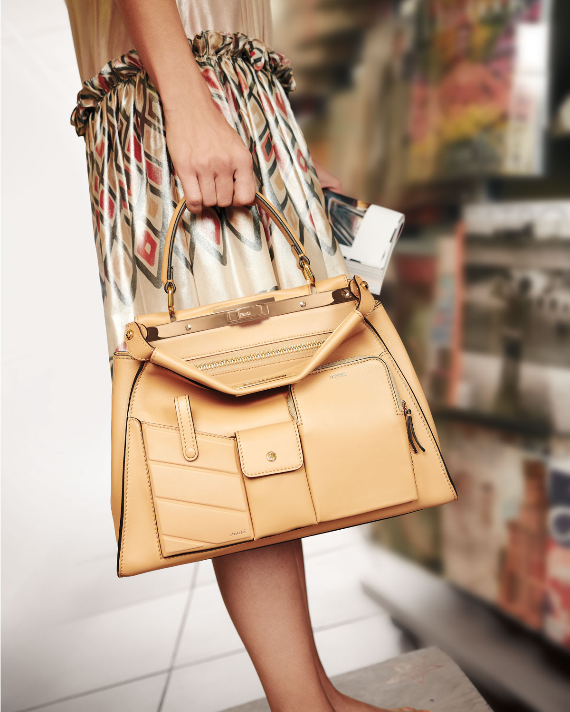 Peekaboo Utility Top Handle Tote Bag by Fendi