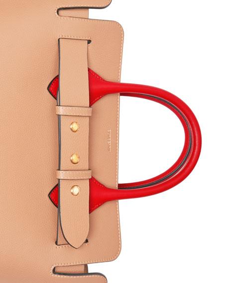 Burberry Marais Small Colorblock Belted Satchel Bag