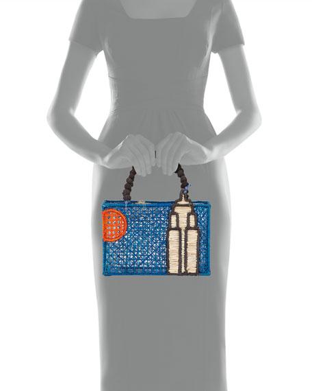 Mercedes Salazar Empire State Building Top Handle Bag