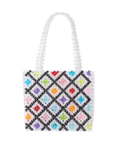 Seltzer Beaded Top Handle Bag