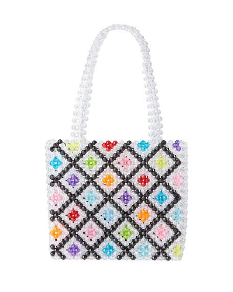 Susan Alexandra Seltzer Beaded Top Handle Bag